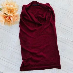 Derek Lam Maroon Sleeveless Sweater Blouse